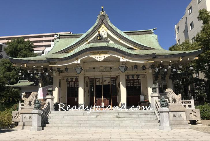 難波八坂神社・拝殿