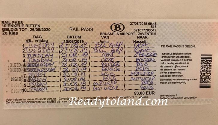 Rail Pass Belgium