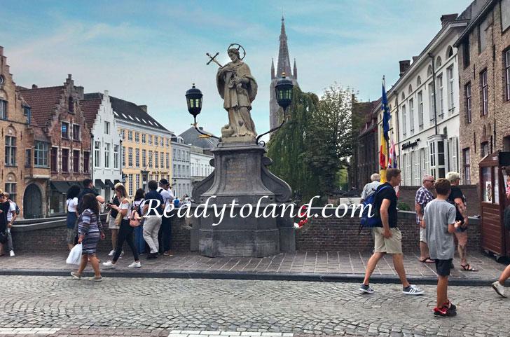 Statue of Saint Joannes Nepomucenus, Brugge