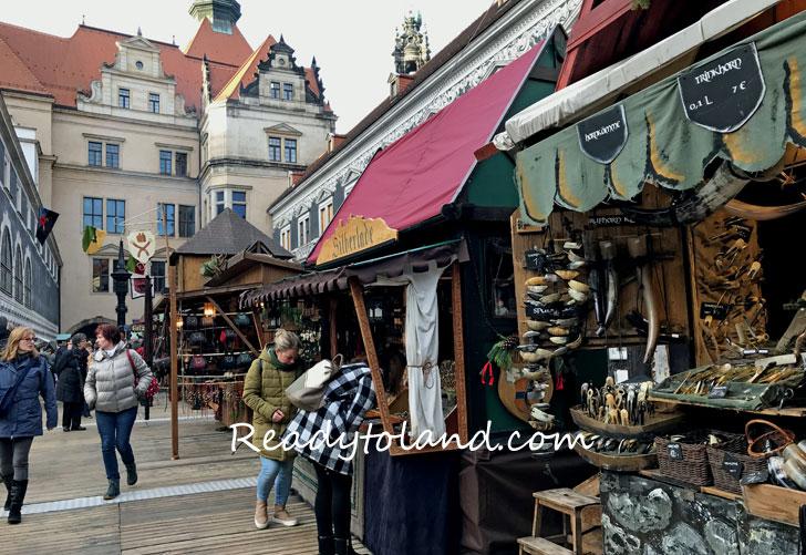 スタルホフ城 中世のクリスマスマーケット、ドレスデン