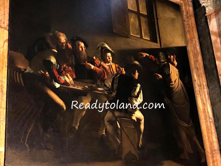 聖マタイの召命、カラヴァッジョ、ローマ