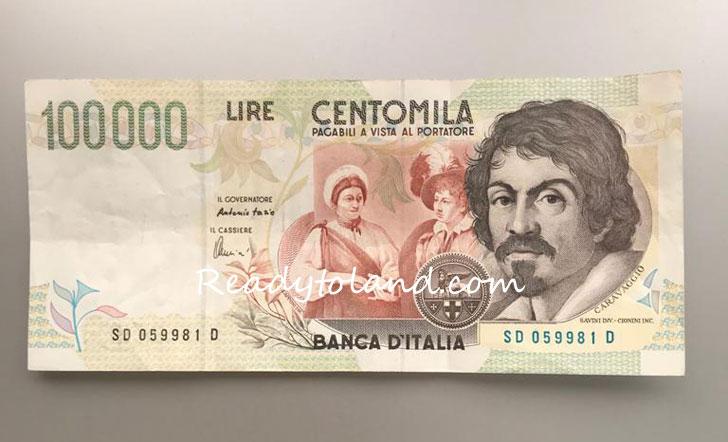 1万リラ札
