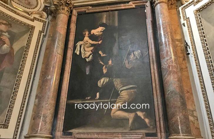 ロレートの聖母、カラヴァッジョ、ローマ