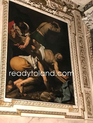 聖ペトロの磔刑、カラヴァッジョ、ローマ