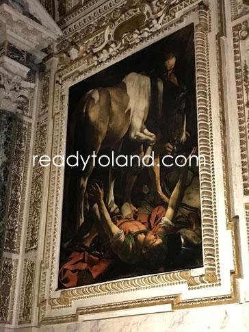 聖パウロの回心、カラヴァッジョ、ローマ