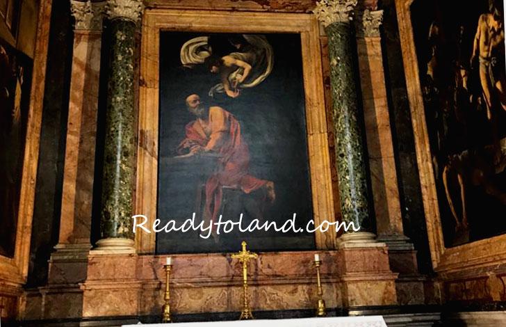聖マタイの霊感、カラヴァッジョ、ローマ