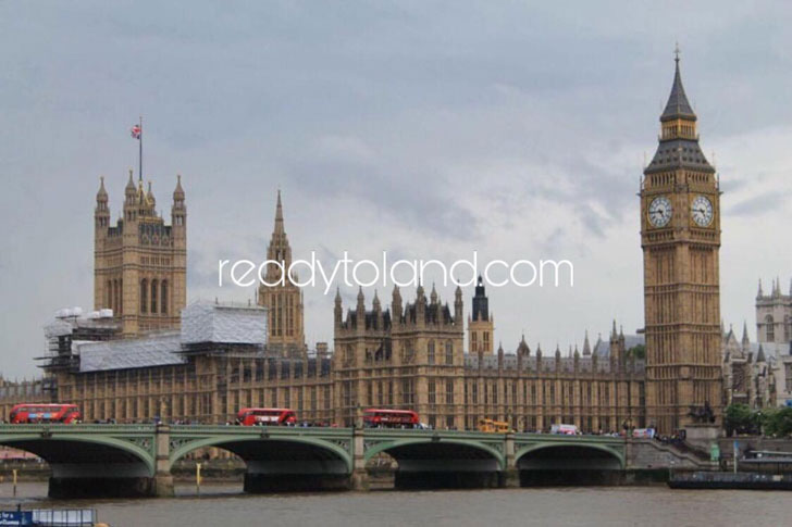 Westminster House of Parliament and Big Ben, London
