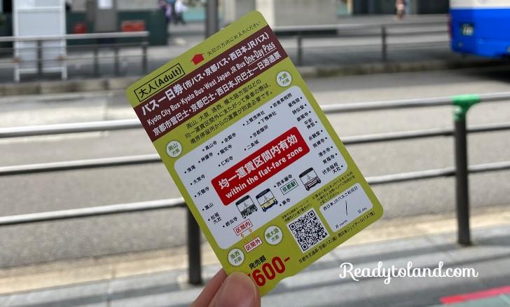 Kyoto Bus Ticket